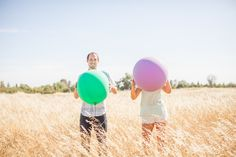 Balloon Themed Engagement Shoot| Photo by: katelynowensphotography.com