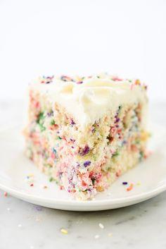 Confetti Funfetti Cake | foodiecrush.com