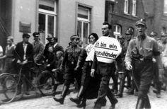 "ublic humiliation of the Jew Julius Wolff and his ""Aryan"" girlfriend Christine Reemann"
