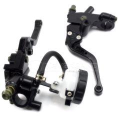 "Universal CNC 7/8"" 22mm Black Motorcycle Brake Clutch Levers Master Cylinder Reservoir"