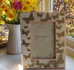 Gold Butterfly Photo Frame