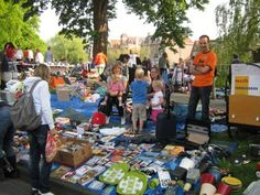 """A typical Dutch habbit on Queensday/ Everybody, young and old, may sell their old stuff on as we call it """"free markets""""."""