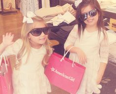 My favorite little British sensation! More shopping please. We need more sunglasses and pink bags.