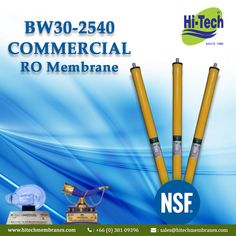 Well designed 2540 membrane for water purification. http://www.hitechmembranes.com/product/bw30-2540-ro-membrane/