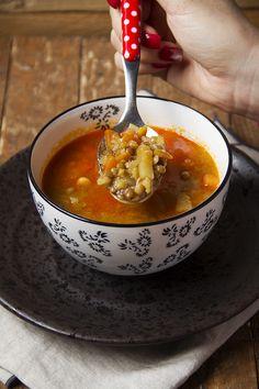 zuppa di lenticchie e cicerchie