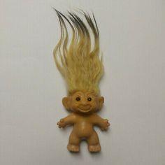 vtg True Troll 3 yellow black ombre mohair amber eye Scandia House 60 s DAM era Yellow Hair, Green Hair, White Hair, Yellow Black, Blue Hair, Pink Hair, Amber Eyes, Black Ombre, Troll Dolls