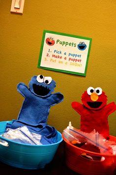 Sesame Street hand puppets