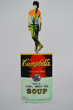 Keith Richards On a Yeah About 99 Campbells Soup Can by BlueDada, $45.00