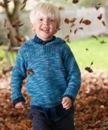 Child's Pullover with Hood, S9051 - Free Pattern Easily Unisex, DK/#3 gauge  Knit flat, good instructions with sizes highlighted