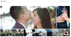 cute Asian couple engagement photo