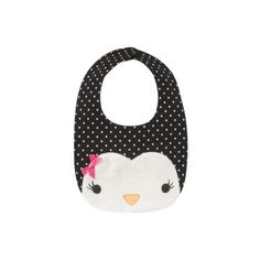 Gymboree - Polka Dot Penguin 11/30/09 (170 MXN) ❤ liked on Polyvore featuring baby, baby stuff, baby girl, baby bibs and baby clothes