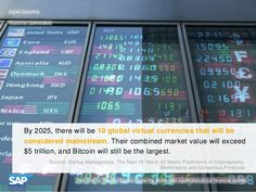 By 2025, there will be 10 global virtual currencies with a market value over $5 billion