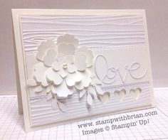 Mixed Bunch Punch, Pansy Punch, Petite Petals, Bird Builder Punch, Wood Grain Textures Folder LOVE White on White
