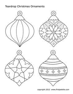 Ornament Templates To Print