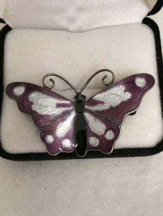 Norway Purple Enamel Sterling Brooch
