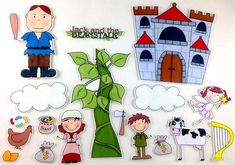 Jack and the Beanstalk Felt Board Story Set by byMaree, $20.00 USD