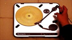 Playable Tortilla Record Etched with a Laser Cutter