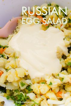 Russian egg salad by food-emporium.com