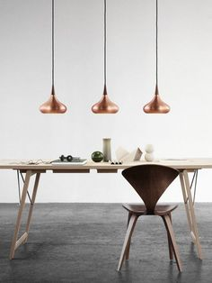 Copper pendant lamp ORIENT by Lightyears | #design Jo Hammerborg at Euroluce