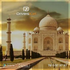 200 km from #Delhi,take your once-in-a-lifetime chance to visit the #TajMahal. Hire a verified ‪#driver‬ from ‪#Driverskart‬ and enjoy the beautiful Taj Mahal in the comfort of your own car.Download the app http://onelink.to/a58bqb today. ‪#‎Chennai‬ ‪#‎Mumbai‬ ‪#‎Bangalore‬ ‪#‎Pune‬ ‪#‎Delhi‬