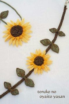 and - Crafts Lace Flowers, Crochet Flowers, Hand Embroidery, Embroidery Designs, Easy Crafts, Diy And Crafts, Crafts For Teens To Make, Crochet Decoration, Crochet Needles