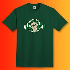 Hibs Football T-Shirt with Cabbage and Ribs Keep The Faith Design