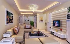 Living and Dining Area - Ceiling Lighting
