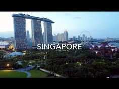 Singapore From Above - YouTube Singapore City, Marina Bay Sands, Building, Youtube, Travel, Beautiful, Viajes, Buildings, Destinations