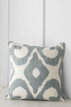 "20"" x 20"" Print Ikat Decorative Pillow Cover or Insert from Lands' End"