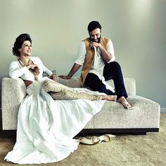 Nikhil Thampi with Susmita Sen for Harper's Bazaar Bride. so awesome1