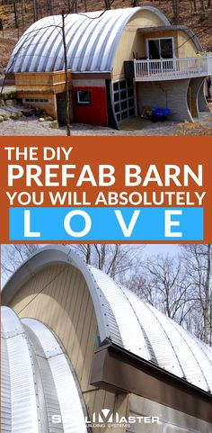 Greg S. wanted a Quonset Hut that was both beautiful and functional, and he found exactly what he was looking for in his DIY prefab barn from SteelMaster Buildings. Steel Building Homes, Metal Building Kits, Building A House, Building Ideas, Timber Frame Homes, Metal Homes, Timber Frames, Steel Buildings, Modern Buildings