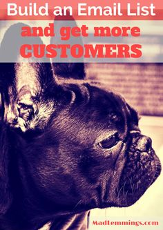 Build An Email List To Get More Customers