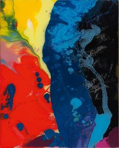 Gerhard Richter - Sinbad - enamel on back of glass - - 2008 ('pin it' Gerhard Richter, Jean Arp, Abstract Expressionism, Abstract Art, Abstract Paintings, New European Painting, Pop Americano, Modern Art, Contemporary Art