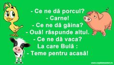 Teme Pentru Acasa #banc #bancuri #bancuridecente #bancurihaioase #bancuritari #glume Funny Facts, Funny Quotes, Funny Memes, Jokes, Funniest Pictures Ever, Funny Pictures, Trollface Quest, Haha Funny, Lol