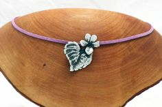 Wood Violet Flower pendant in silver pewter by EarthlyCreature, $28.00