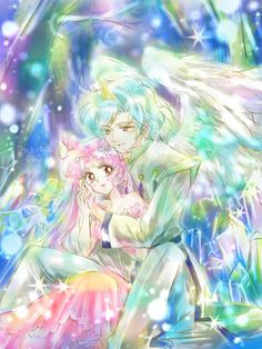 Chibuisa y Heliot Sailor Moom, Arte Sailor Moon, Sailor Moon Fan Art, Sailor Moon Character, Sailor Moon Manga, Sailor Uranus, Sailor Moon Crystal, Chibiusa And Helios, Couple Manga