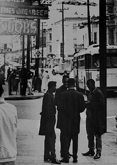 Fillmore Street, 1960s. Photo courtesy African American Historical and Cultural Society, San Francisco, CA