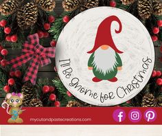Easy Christmas Ornaments, Christmas Gnome, Simple Christmas, Christmas Crafts, Christmas Decorations, Holiday Decor, Snow Fun, Wood Plaques, Vinyl Cutting