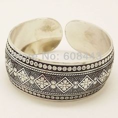 Edgy and Chic Gypsy Vintage Tibetan Inspired Bangle