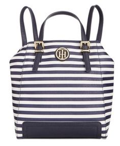 f6b0533b Tommy Hilfiger Honey Striped Backpack Tote & Reviews - Handbags &  Accessories - Macy's