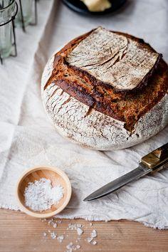 Sourdough Bread and Salt by Sarka Babicka Photography