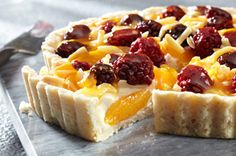 Summer Fruit Tart recipe but make with strawberries and blue berries, with lemon curd instead of apricot jam