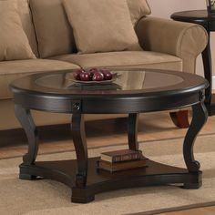 WyndenHall Normandy Dark Espresso Coffee Table with Storage