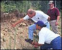 This site by the USDA can help you identify the soil type native to your area. Very useful information when planning a master garden!   Note that residential soil sometimes varies from the natural soil of that location because builders often bring in topsoil from another location when finishing the yard around a home. My yard had some natural and some relocated.