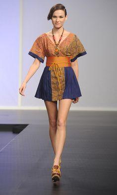 Modern Batik Dress.