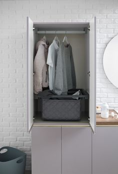 The area takes shape inside the home environment ricavandosi a well-defined space, in a functional and elegant way. Laundry Area, Laundry Room Design, Interior Stylist, Bath Decor, Bath Design, Environment, House Design, Shape, Bathroom