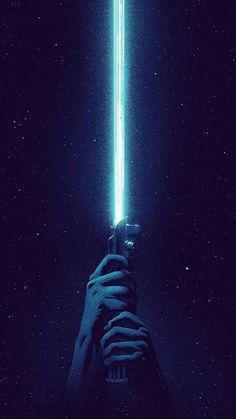 Wallpaper Android - Blue Lightsaber iPhone 6 / 6 Plus wallpaper Star Wars Film, Star Wars Fan Art, Star Wars Poster, Star Trek, Movie Wallpapers, Blue Wallpapers, Iphone Wallpapers, Cool Wallpapers Star Wars, Sabre Laser Star Wars