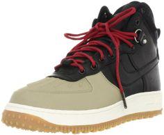 low priced 4d14f 80b1a Amazon.com   Nike Air Force 1 Duckboot Mens Shoes  444745-003   Black Black-Khaki-Sail Mens Shoes 444745-003-7.5   Fashion Sneakers