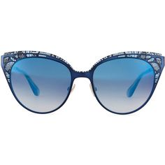 7d95f2fb54 Jimmy Choo Estelle Lace-Pattern Cat-Eye Sunglasses ( 425) found on Polyvore
