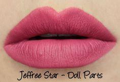 Jeffree Star Velour Liquid Lipsticks - Doll Parts Swatches & Review